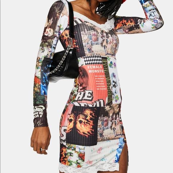 New Girl Order patchwork mini dress